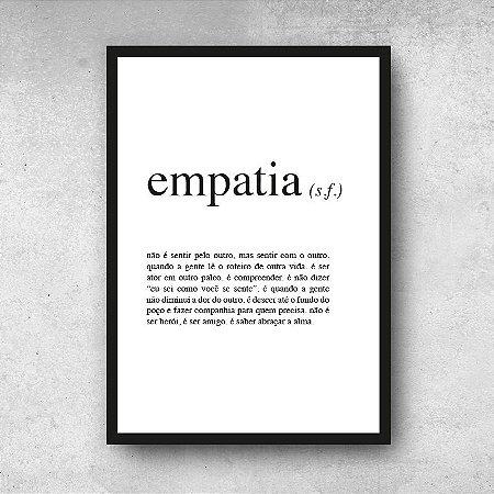 Placa decorativa Empatia