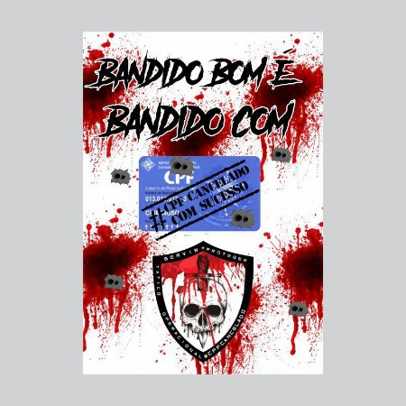 Placa decorativa CPF Cancelado