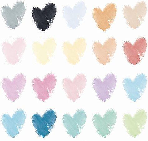 Adesivo Decorativo Coração de aquarela