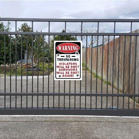Placa decorativa - No Trespassing