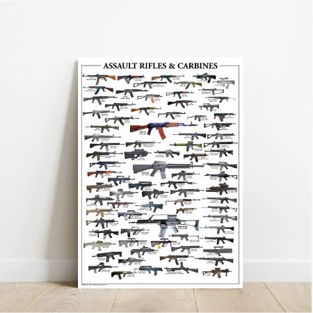 Placa decorativa Rifles