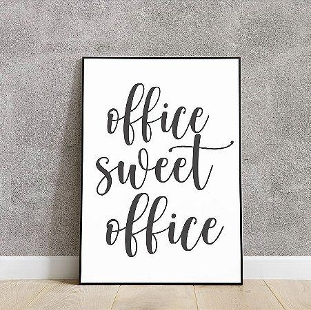 Placa decorativa office sweet office
