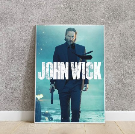 Placa decorativa John Wick