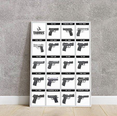 Placa decorativa Pistola Taurus