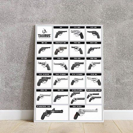 Placa decorativa Revolver Taurus