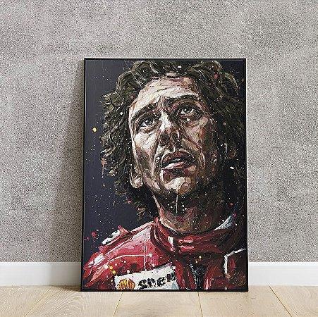 placa decorativa Ayrton Senna
