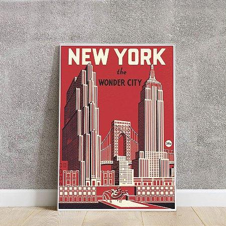 Placa decorativa New York