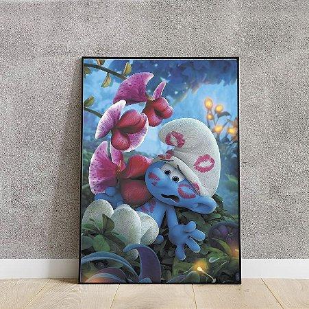 Placa decorativa smurf