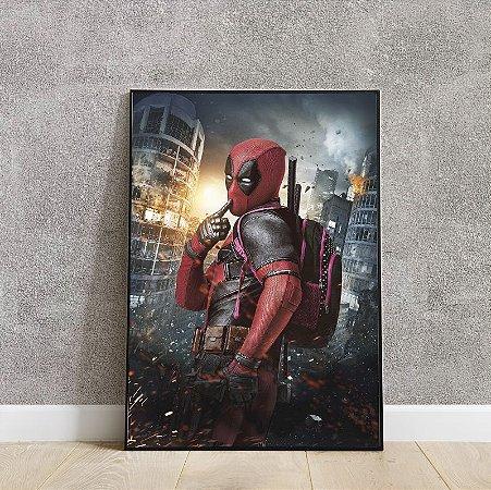 placa decorativa Deadpool