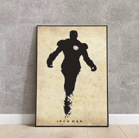Pacote placas decorativas IRON MAN