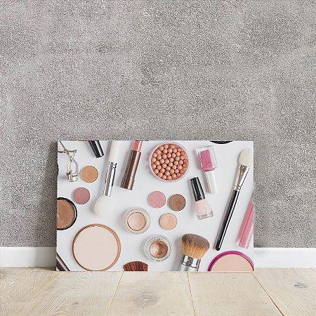 Placa decorativa de maquiagem