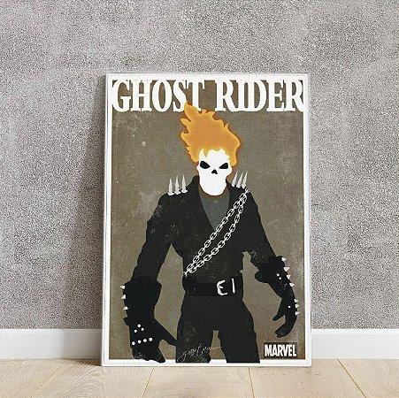 placa decorativa do Ghost Rider