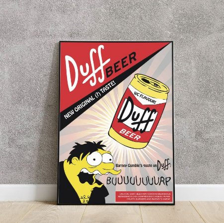 placa decorativa da cerveja Duff