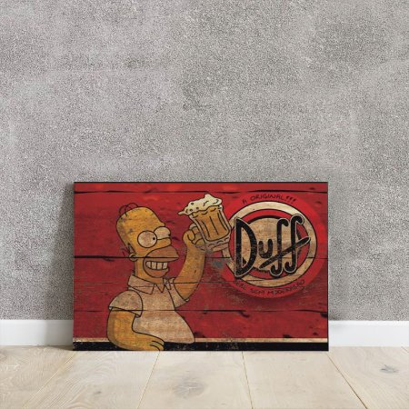 placa decorativa da cerveja Duff 2