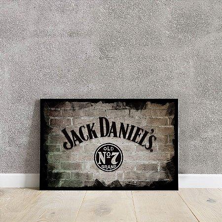 placa decorativa da Jack Daniel's.