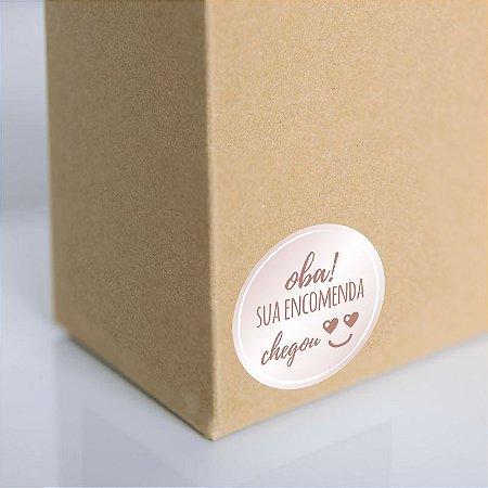 Adesivo para embalagem Rose gold (250 unidades)