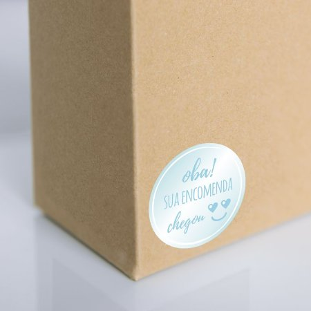 Adesivo para embalagem Azul (250 unidades)
