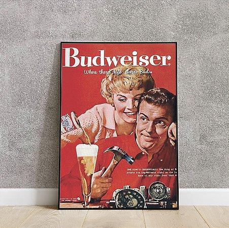 placa decorativa da Budweiser