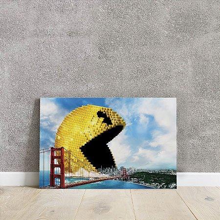 placa decorativa do filme Pixels