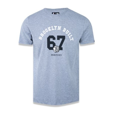 Camiseta New Era NBA Nets Brooklyn Built Cinza