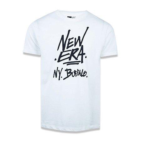 Camiseta New Era Essential Ny Buffalo Branca