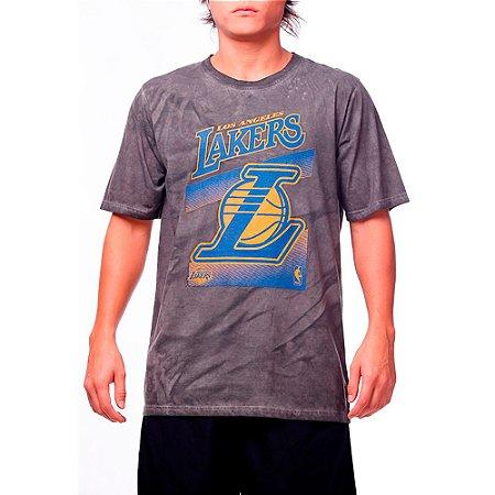 Camiseta NBA Marmorizada Larkers