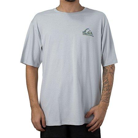 Camiseta Quiksilver Stripe L Cinza