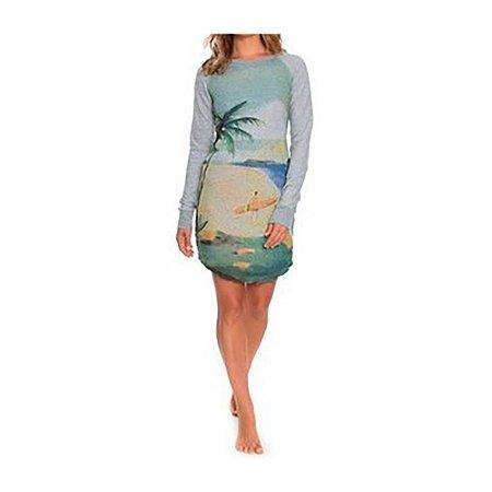 Vestido Roxy Curto Tenerife Sea Grey