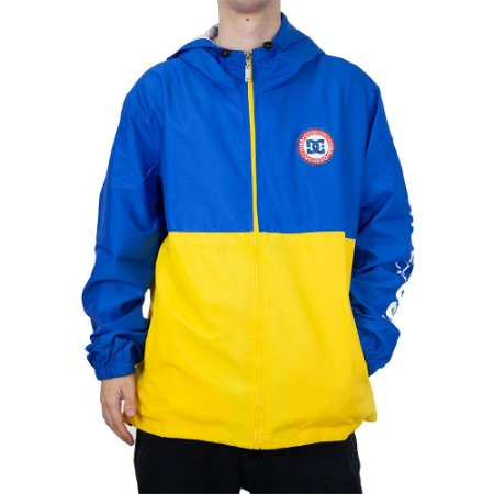 Jaqueta DC Corta Vento Bah Way Amarelo/Azul