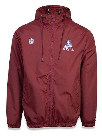 Jaqueta New Era Corta Vento New England Patriots Vintage College Team Vermelho