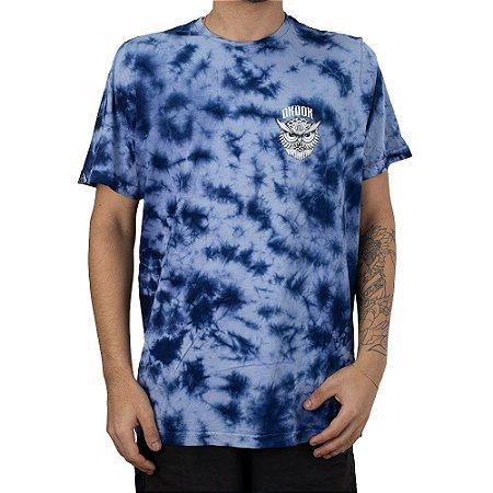 Camiseta Okdok Tie Dye Owl Azul Claro