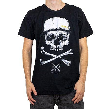 Camiseta Keek's Caveira Preto