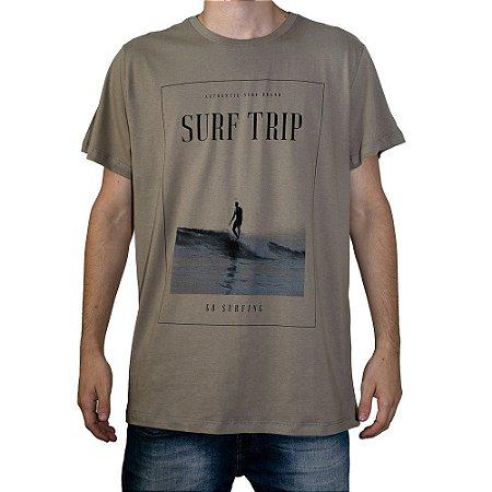 Camiseta Surf Trip Authentic Surf Khaki
