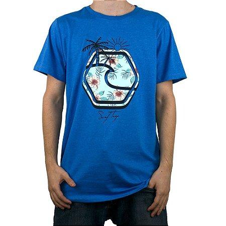 Camiseta Surf Trip Logo Trip Azul