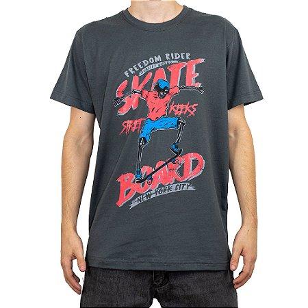 Camiseta Keek's Skate Board Grafite