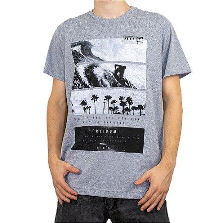 Camiseta Keek's Ride the Wave Cinza