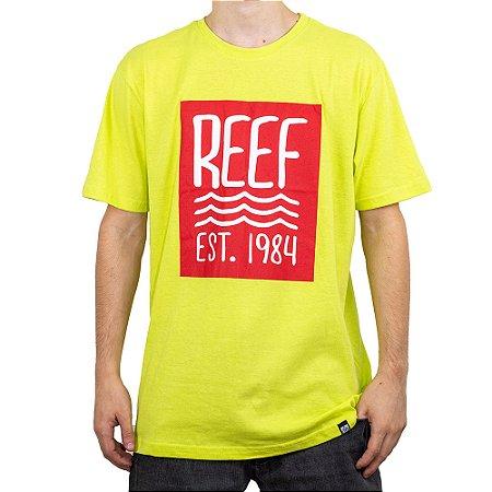 Camiseta Reef Est. 1984 Amarelo