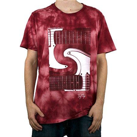 Camiseta Surf Trip Guitarra Vermelho