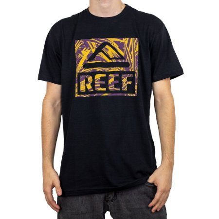 Camiseta Reef Tropical Preto
