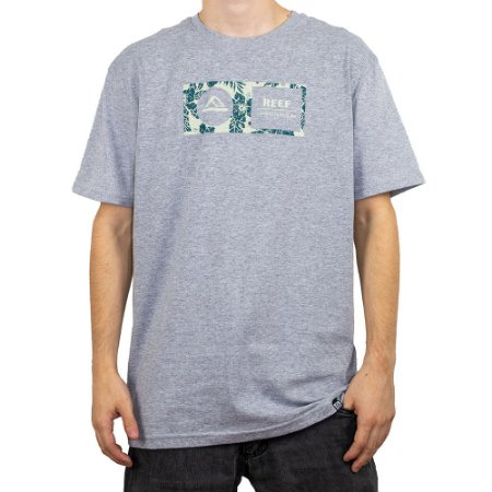 Camiseta Reef Mid Capsula Corporativa Cinza