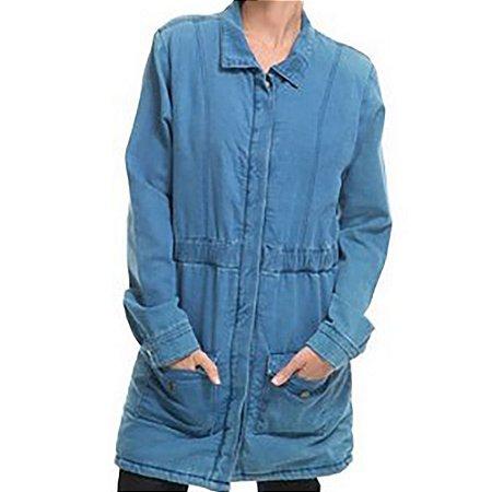 Jaqueta Roxy Jeans Cozy Azul