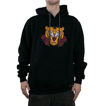 Moletom Okdok Canguru Fechado Tiger Preto