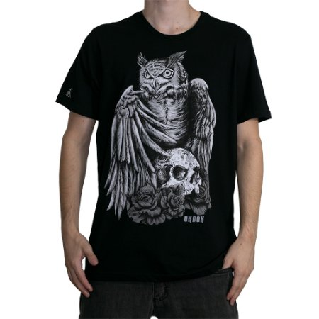 Camiseta Okdok Hunter Owl Preto