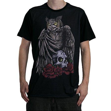 Camiseta Okdok Hunter Owl Preto/Color