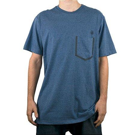 Camiseta Volcom Especial Heather Pocket Azul