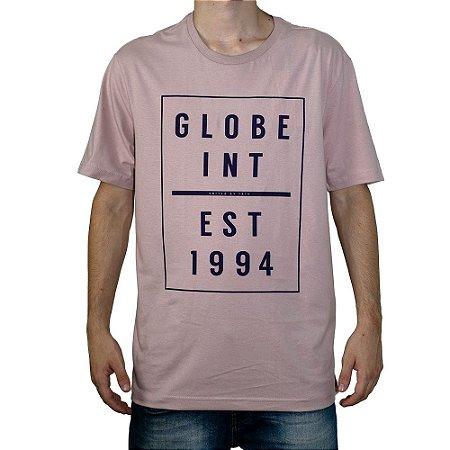 Camiseta Globe Estabilshed 1994 Rosa