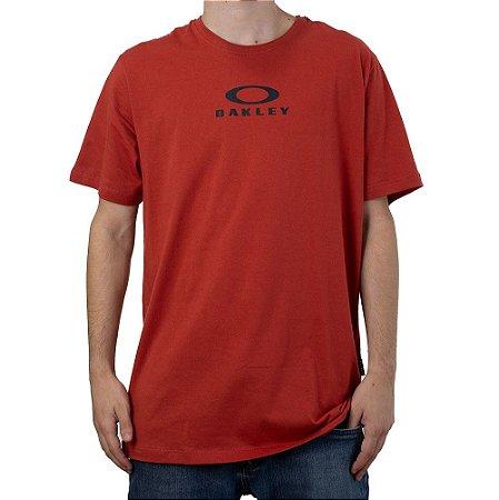 Camiseta Oakley Bark New Tee Vermelho
