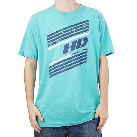 Camiseta HD Logo Diagonal Verde Claro