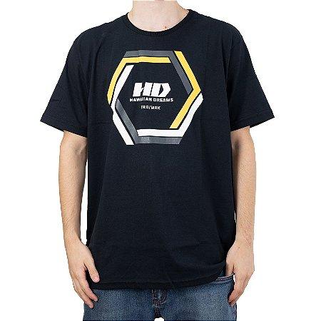 Camiseta HD Hexagonal Preto