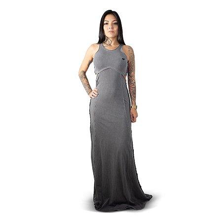 Vestido Roxy Longo Diamond Cinza